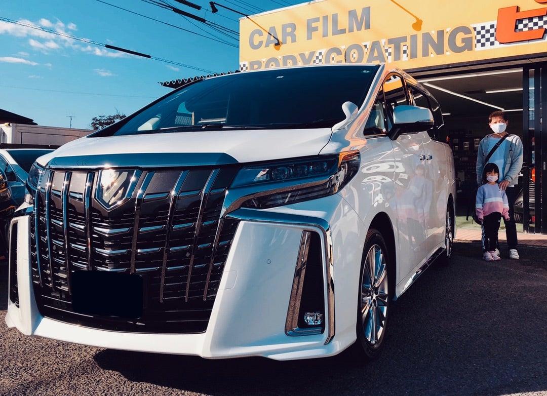 トヨタ アルファード 新車 リアルガラスコートclassR シルフィード断熱フィルム施工