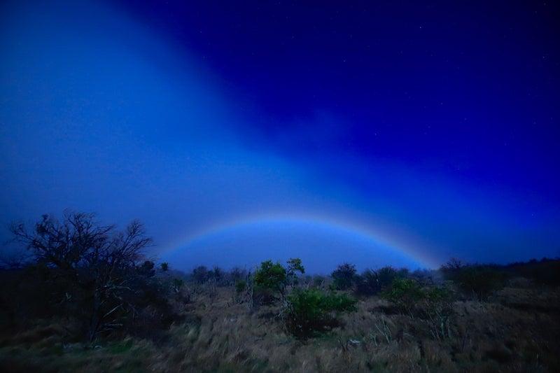 夜の虹(ムーンボウ)を家族で観に行きました。by山本茂