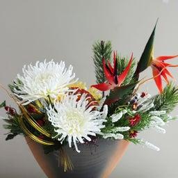 画像 【お正月のお花】サイアム和装さんへ❀新年から飾れる和風のアレンジメント❀ の記事より 1つ目