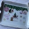 ポーセラーツ:生徒さま作品★とっても可愛いクリスマストレー☆の画像
