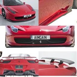 画像 フェラーリ458用エイムゲインカーボンパーツをお買い上げ頂きました の記事より