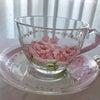 ポーセラーツ:転写紙コース☆ガラスのカップ&ソーサーの画像