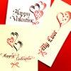 カリグラフィー Oneday LESSONのご案内【バレンタインカード】の画像