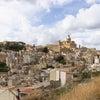 シチリアの内陸エンナにある村の画像