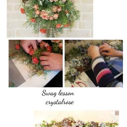 画像 サーモンピンク花束型とブルーの2wayスワッグ~アーティフィシャルフラワーレッスン の記事より 1つ目