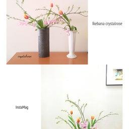 画像 スイトピーとチューリップの花の饗宴~いけばな の記事より 1つ目