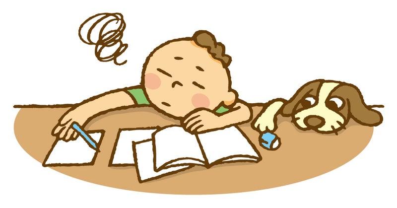 勉強に身が入らない子供