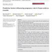 当院が発表した論文の紹介 凍結胚移植における妊娠率に影響を与える予測因子
