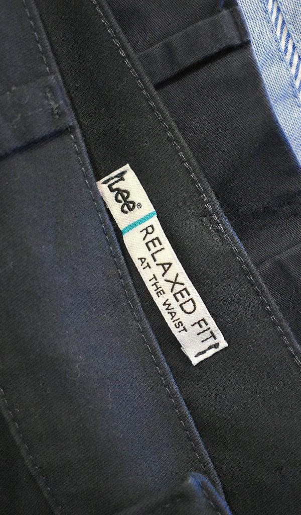 ブランド紺チノパンワイドパンツ@古着屋カチカチ