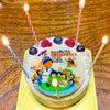 よしすけさんから届いた叔父さんへの心のこもった創作バースデーケーキの画像
