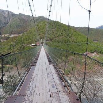 奈良 十津川村 谷瀬の吊り橋が怖かった