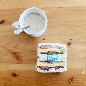 今年もスタート!須磨海苔と神戸市産食材のサンドイッチ「127番地」 #神戸市役所