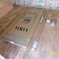 DIYで倉庫建築 入口ドア組立て開始