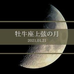 画像 牡牛座上弦の月 の記事より 1つ目