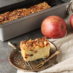 母の思い出の味、アップルグラタンケーキ。久々につくったけれどやっぱりおいしかった!!の画像