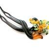べっ甲葡萄装飾付き4WAYかんざし|縁起物の葡萄(琥珀・七宝・銀(SV925)製)を添えたユニーの画像
