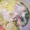 通所の行事食「鶏ちゃんこ鍋」の画像