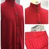 カシミヤ.衿のデザイン変更のお直しの画像