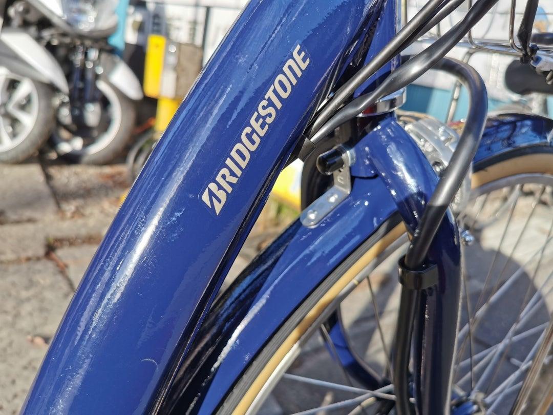 綺麗な色のアシスト付き自転車