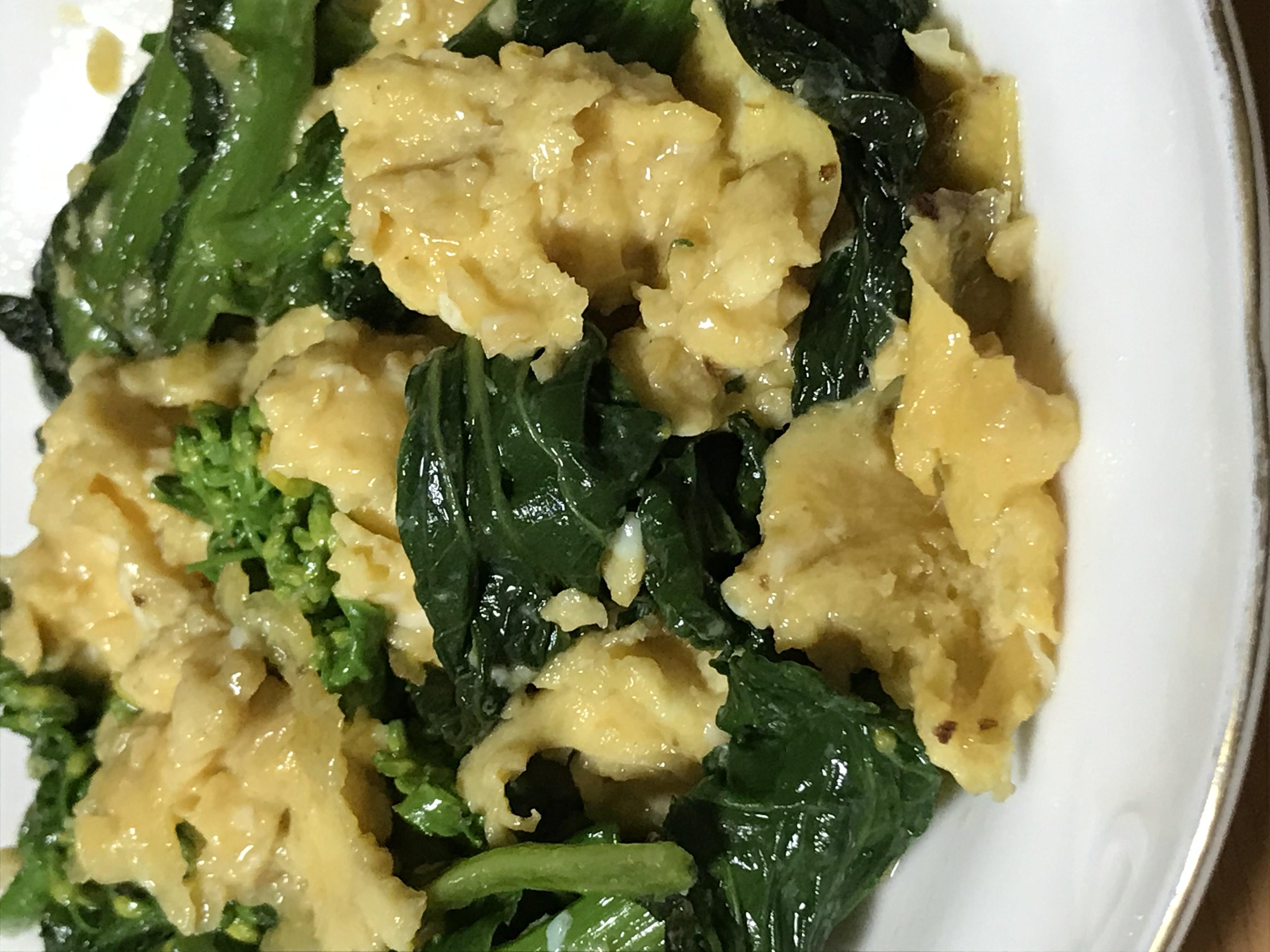 薬食同源・・菜の花と卵のレシピ