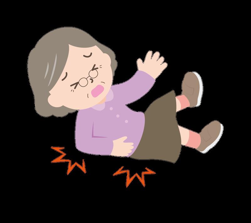 転倒した女性