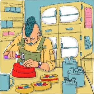 絵話 裏参道アパート 302号室 ボタン職人の画像