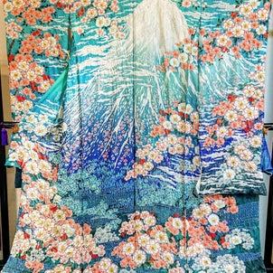 富士山 絞り振袖の画像