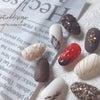 バレンタインネイル チョコレートデザインの画像
