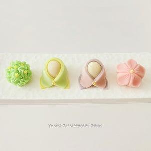 和菓子教室♪お雛さまを練り切りで作ろう!可愛くて飾っておきたくなる☆ひな祭り練り切り講座♪の画像