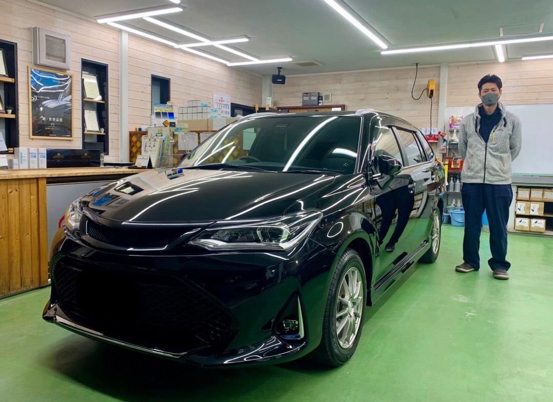 トヨタ カローラフィールダー リアルガラスコートclassH施工