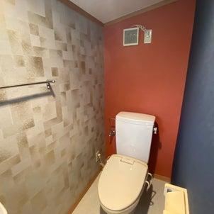 トイレの壁紙の張り替えの画像