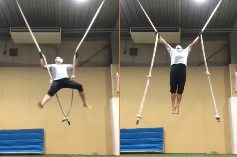 ロープ 登り