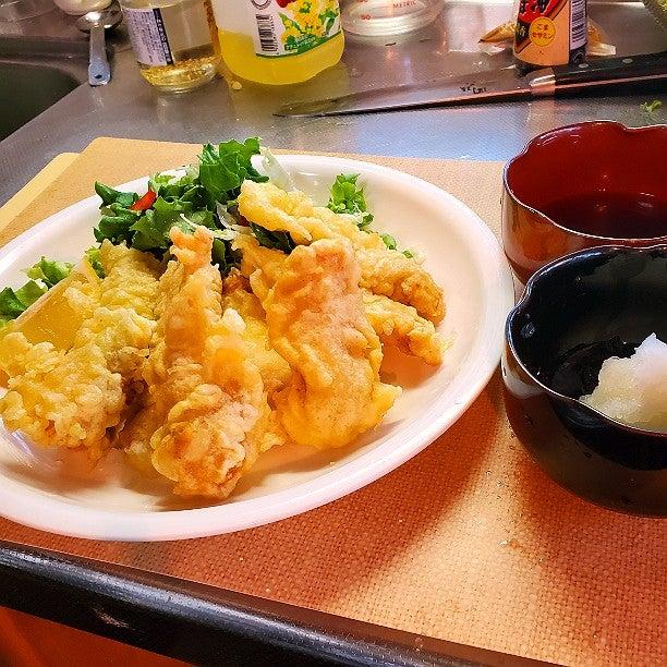 レシピ 人気 柔らか とり天 【塩麹でふんわり柔らかとり天】と子供も大好き大葉の天ぷら【天ぷら粉いらず簡単レシピ】