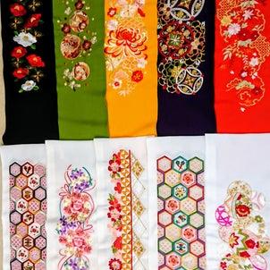 新作☆刺繍衿の画像
