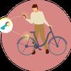 SESAME サイクル (ママチャリ)の設定方法の画像