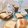 朝の楽しみに焼いた食パンの画像