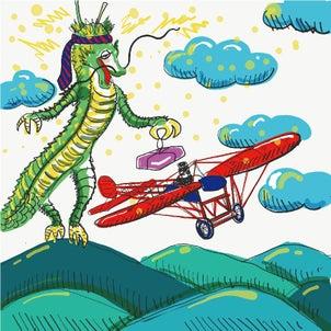 絵話 酔っ払いの龍の画像