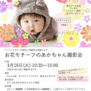 【募集開始】3/16 お花のあかちゃん撮影会@メディアコスモスの画像