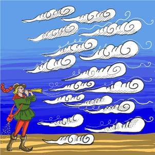 絵話 雲を操る笛吹き男の画像