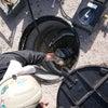消火栓の耐圧試験の画像