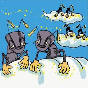 絵話 雲に乗りたいアリと笛吹き男の画像