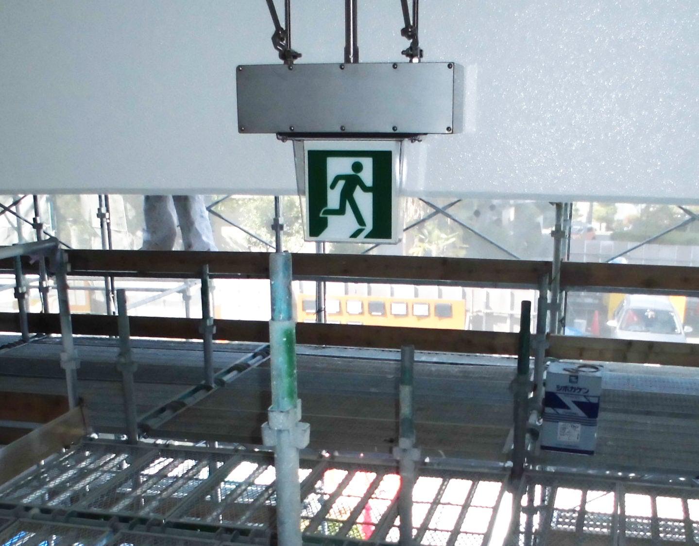 市内高等学校にて電気工事をしました