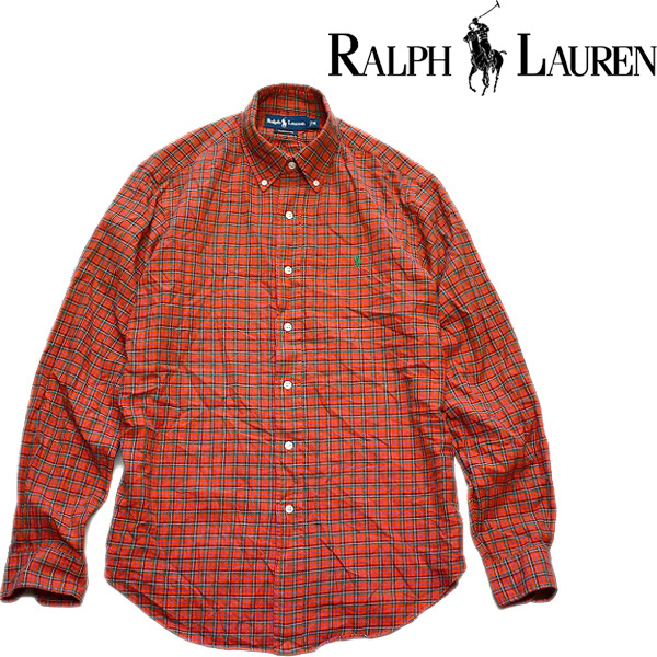 ラルフローレンRL長袖チェックシャツ古着屋カチカチ