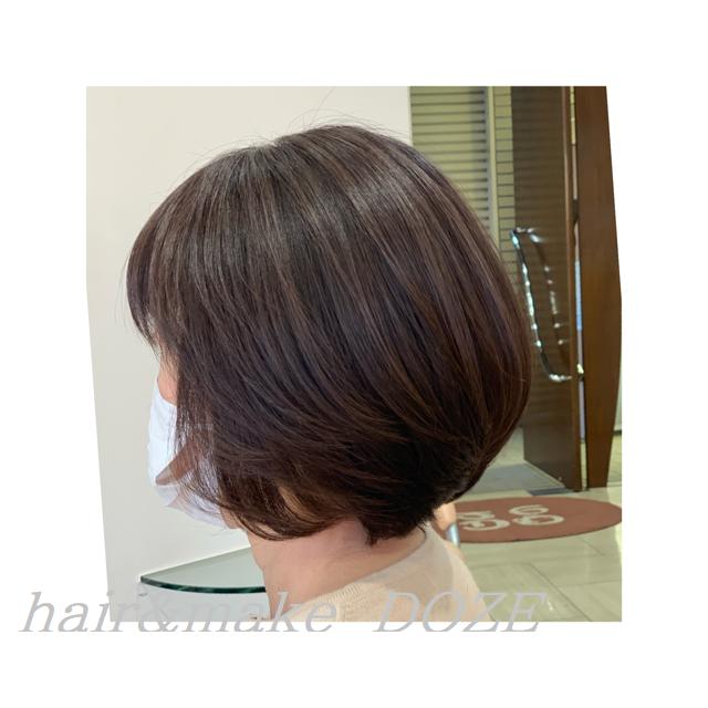 縮毛矯正ではすることのできない質感で丸みを感じるツヤ髪シルエット!