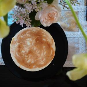 塩キャラメルのレアチーズケーキの画像