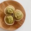 色も中身も、優しくできあがり♪簡単♪きな粉多めの抹茶米粉マフィン。の画像