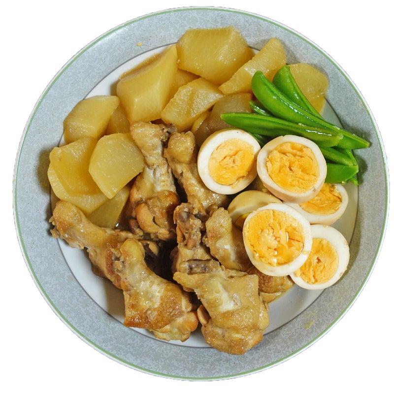 煮込み時間15分の簡単!手羽元と大根 煮卵の酢醤油煮