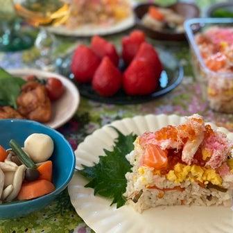コストコの期間限定「ちらし寿司」でひな祭りの献立♡