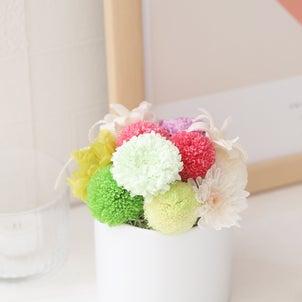 ポンポン菊の和モダンアレンジの画像