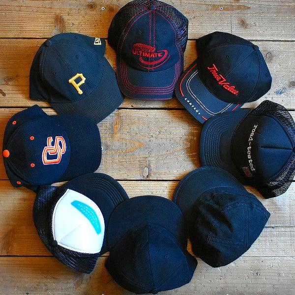 黒ベースボールキャップ帽子@古着屋カチカチ2